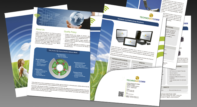 Techno Sat Comm India Pvt Ltd One Fold Brochure