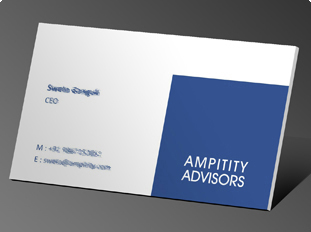 Business card design and printing for astrological consultant ampitity advisor colourmoves