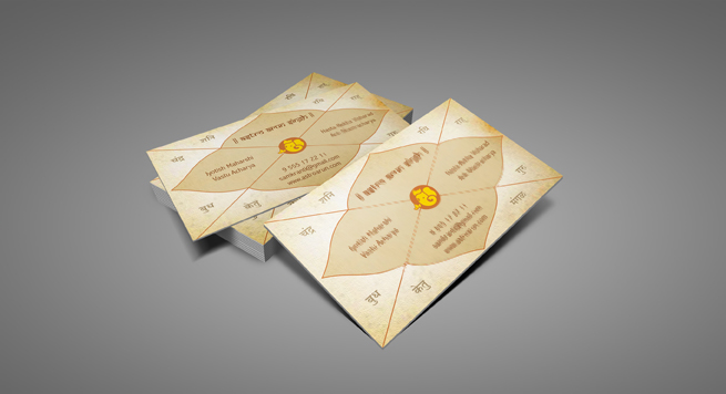 Business Card Design And Printing For Astrological Consultant