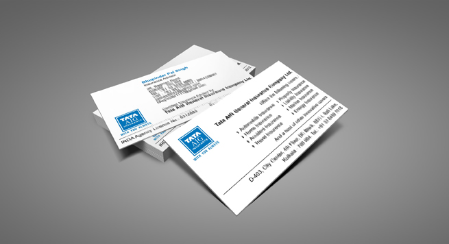 Business Card Design And Printing For General Insurance Advisor