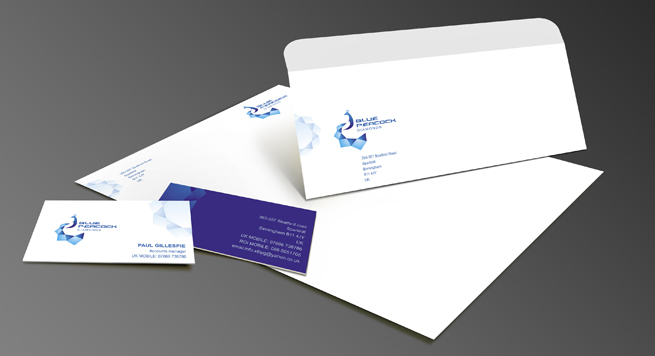 Blue Peopock Diamonds Corporate identity