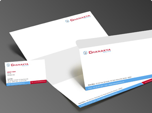 Portfolio for business card letterhead envelope brochure design chanakkya advisory group reheart Image collections