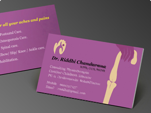 Business Card Design And Printing For Dental Care Clinic