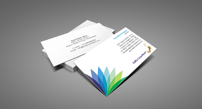 Business card design and printing for financial consulting for Design consultancy services