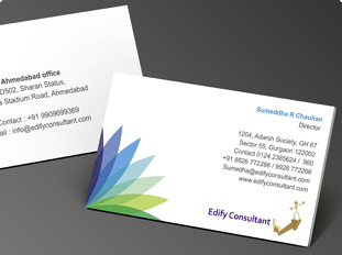 Business card design and printing for chartered accounting firm edify consultants colourmoves
