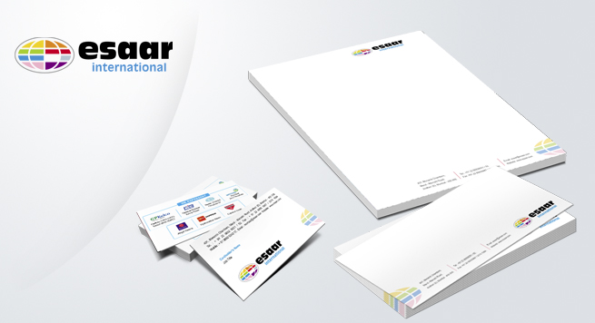 Esaar Paints Corporate identity