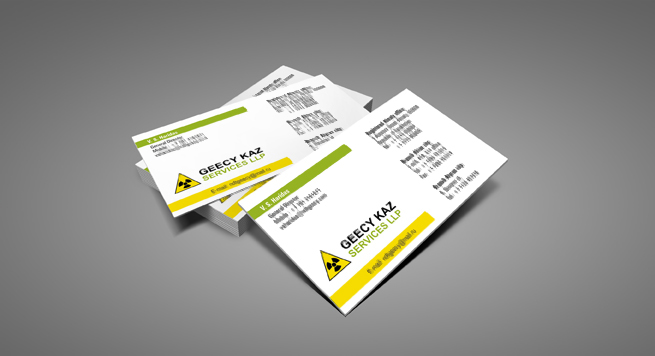 Business card Design and Printing for Heavy Fabrication Shop