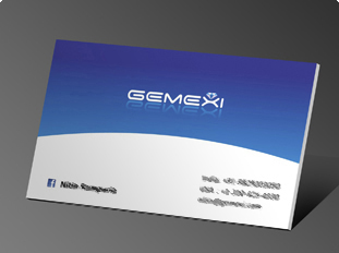 Online business card printing upload or use free business card gemexi reheart Images