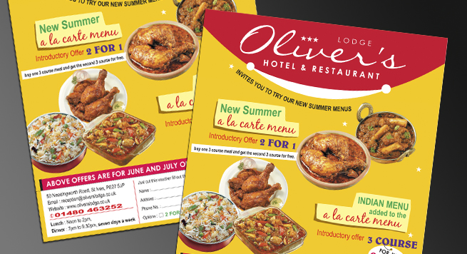 Olivers Hotel UK - Design2 Advertisement