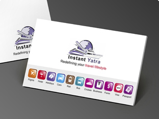 Online business card printing upload or use free business card instant yatra pvt ltd reheart Images