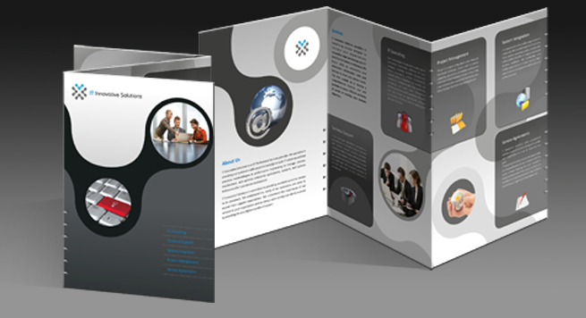 Two Fold Brochure Design For Clinical Laboratories Product