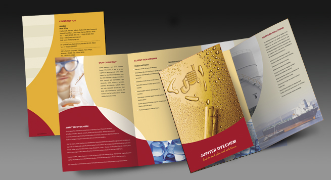 two fold brochure design and printing for bulk petrochemicals supplier