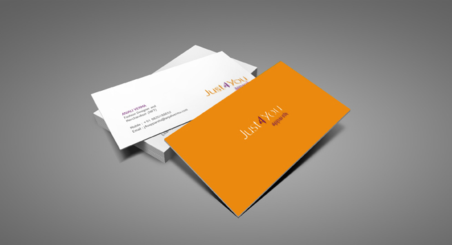 Just 4 You Apparels Business card