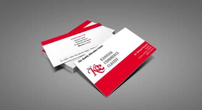 Kanojia Commerce Classes Business card