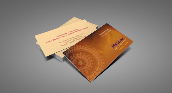 Malhar Art Gallery Business card