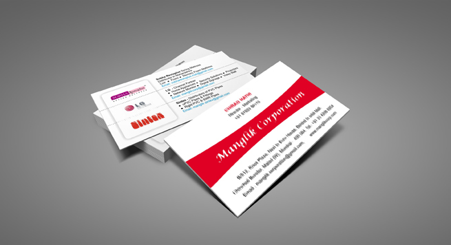 Manglik Coporation Business card
