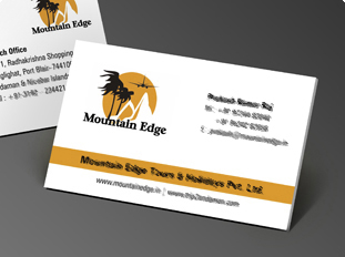 Online business card printing upload or use free business card mountain edge reheart Image collections