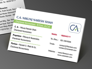 Online business card printing upload or use free business card ca nikunj naresh shah reheart Choice Image