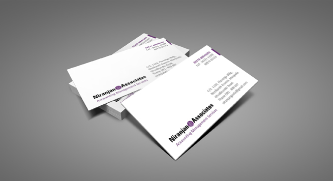 Niranjan Associates Business card