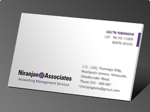 Online business card printing upload or use free business card niranjan associates reheart Choice Image