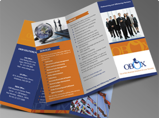 Obox Solutions Pvt. Ltd. Two Fold Brochure