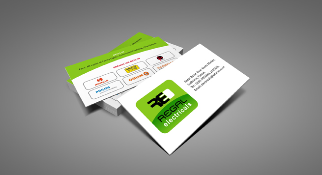 Regal Electricals Business card