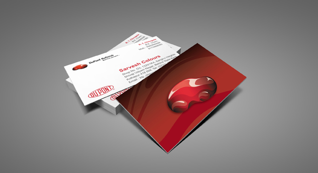 Business card Design and Printing for DuPont Automobile Colour Lab