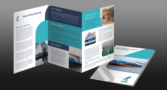 Shiney Shipping Pvt. Ltd. Two Fold Brochure