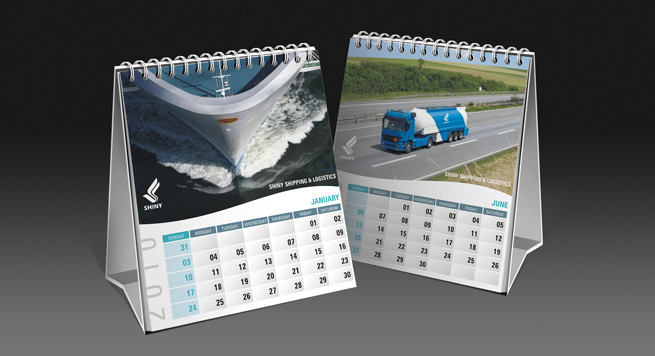 Calendar Design For Cargo Shipping Company
